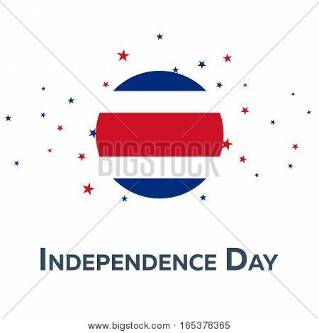 Independence Day Of Costa Rica. Patriotic Banner. Vector Illustration.