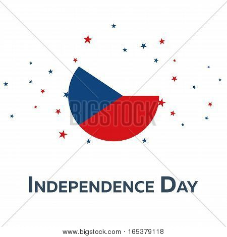 Independence Day Of Czech Republic. Patriotic Banner. Vector Illustration.