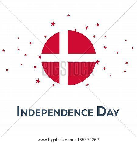 Independence Day Of Denmark. Patriotic Banner. Vector Illustration.