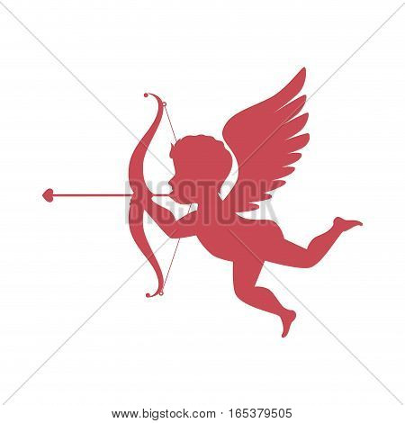 cupid angel love card vector illustration design