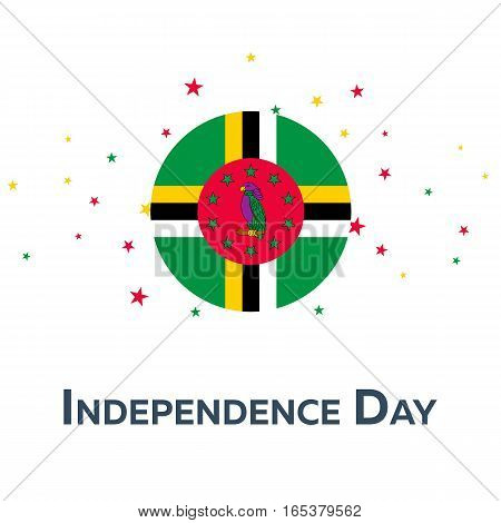 Independence Day Of Dominica. Patriotic Banner. Vector Illustration.