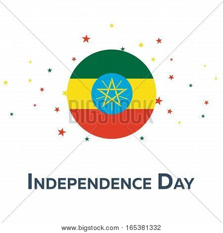 Independence Day Of Ethiopia. Patriotic Banner. Vector Illustration.