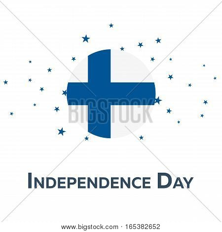 Independence Day Of Finland. Patriotic Banner. Vector Illustration.