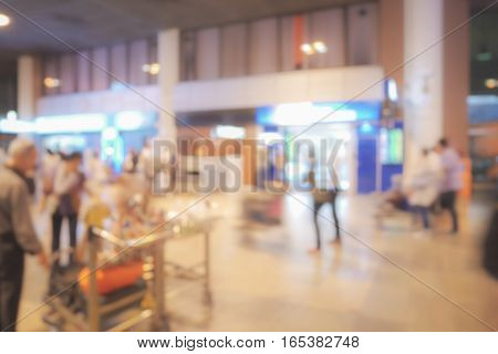 Blur image of meeting point at airport for background