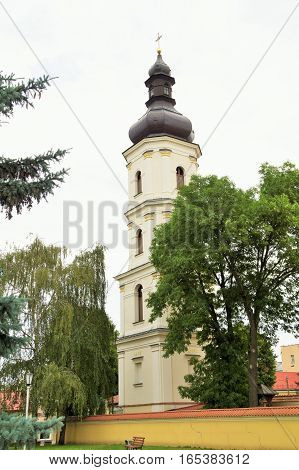 pictured building dyyatsezialnoy kuriii Pinsk diocese. Belarus
