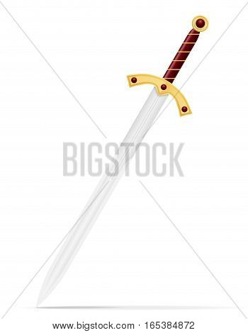 battle sword medieval stock vector illustration isolated on white background