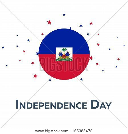 Independence Day Of Haiti. Patriotic Banner. Vector Illustration.