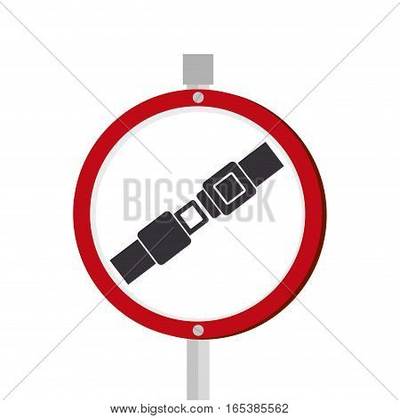 To fasten seat belt sign vector illustration design