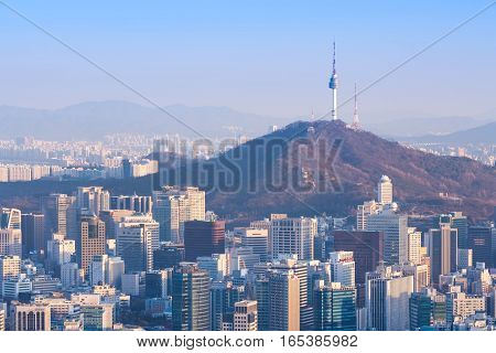 Seoul City And N Seoul Tower, South Korea