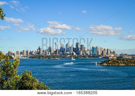 Sydney, Australia -  View from ZOO, City CBD and Opera House