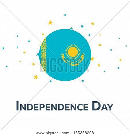 Independence Day Of Kazakhstan. Patriotic Banner. Vector Illustration.