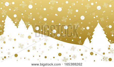 tree mature meadow snow snowy gold bakground