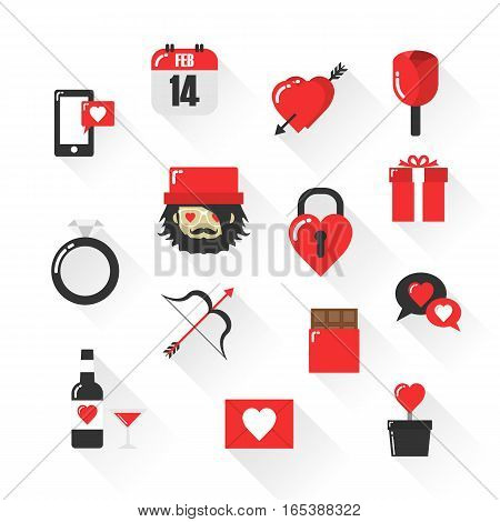 sign of valentine icon isolated on white background