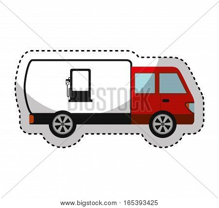 truck vehicle delivery service vector illustration design