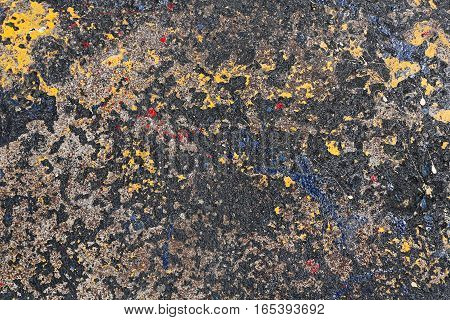 Abstract Dark Background Made from Stains of Paint