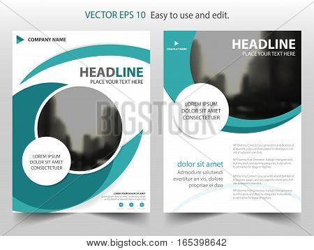 Blue abstract circle annual report Brochure design template vector. Business Flyers infographic magazine poster.Abstract layout template Book Cover presentation portfolio.