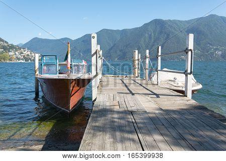 Little Dock On The Lake Of Lugano