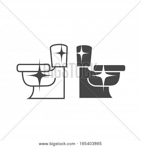 Toilet Icon. clear and shine, vector illustration logo