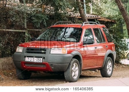 Tbilisi, Georgia - October 21, 2016: Land Rover Freelander is a compact sport utility vehicle, SUV, which was produced by the British manufacturer Land Rover from 1997 to 2014.