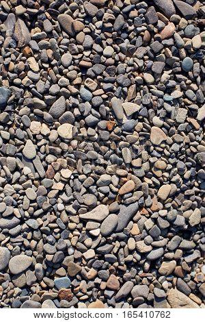 Gravel background. Stone texture. Natural rocks. Shingle.
