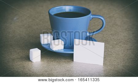 Cup Of Coffee And Sugar, The Words On The White Sticker