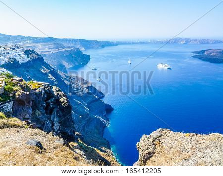 Hdr Fira In Greece