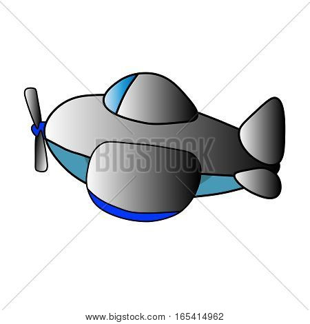 Image of airplane on a white background, vector
