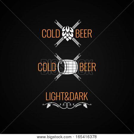 Beer Vintage Logo Set Background 8 eps