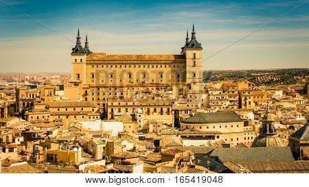 View of Toledo Spain and the cathedral