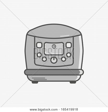 A simple flat icon for multicooker to do different dishes
