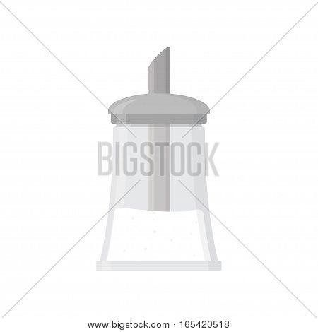 Sugar bowl shaker bottle. Flat design. isolated on a white background Vector illustration.