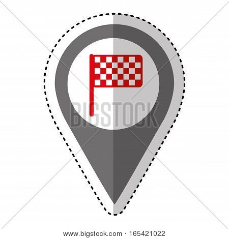finish flag isolated icon vector illustration design