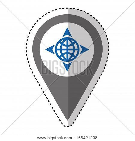 sphere with arrows isolated icon vector illustration design