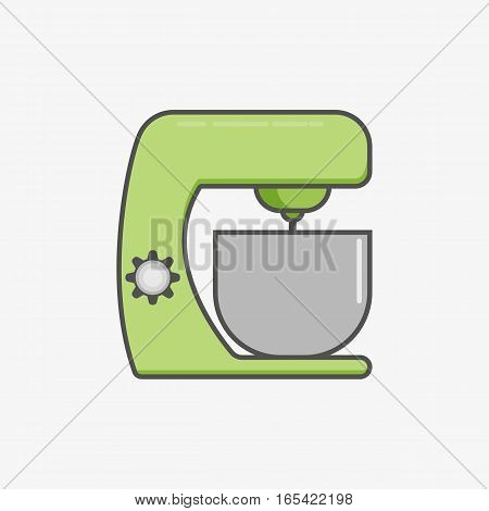 A simple flat icon for kitchen machine to fluff and mix different food