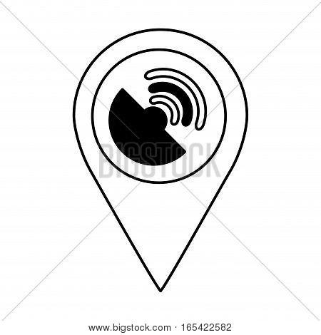 antena satellite isolated icon vector illustration design