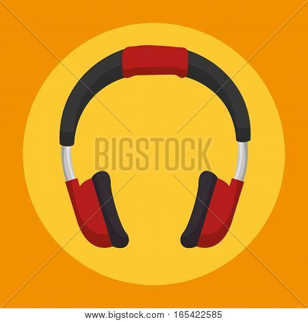 headset sound device icon vector illustration design