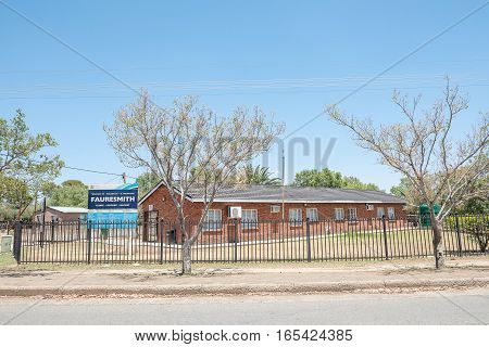 FAURESMITH SOUTH AFRICA - DECEMBER 31 2016: A clinic in Fauresmith a small town in the Free State Province