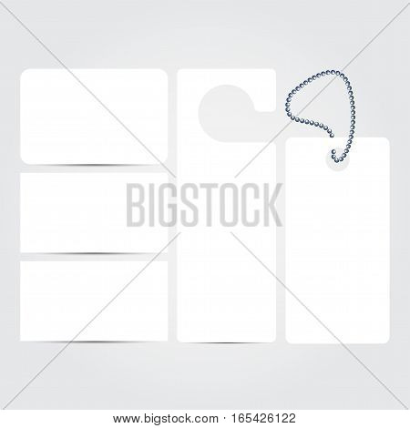 Corporate concept identity blank template set. Business stationery mock-up  white. Branding design. Letter envelope, card, banner, label, pen, pencil, badge,  letterhead. Vector illustration.