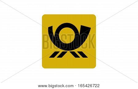 Vector - Post horn - Vektor - Posthorn - Icon, Symbol, Pictogram