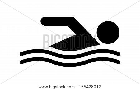 Vector - Swimming - Vektor - Schwimmen - Icon, Symbol, Pictogram