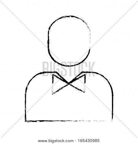 man pictogram wearing bowtie icon image vector illustration design