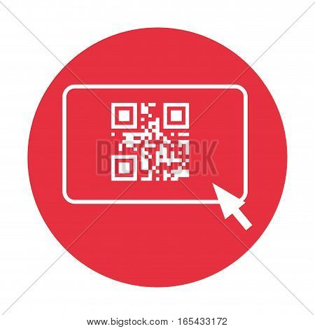 qr code and arrow pointer icon image vector illustration design