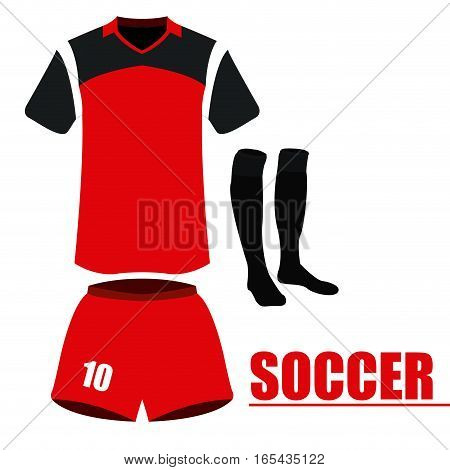 Isolated soccer uniform on a white background, Vector illustration