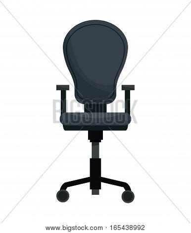 office chair equipment wheel style vector illustration eps 10