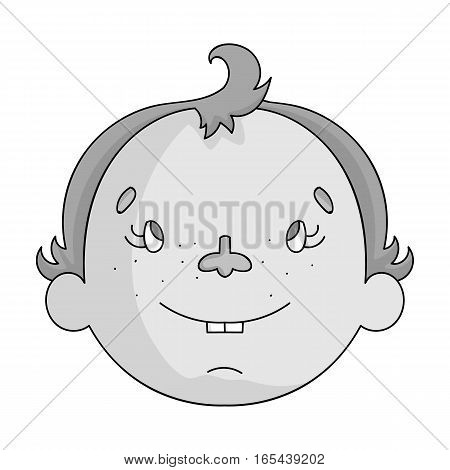 Son icon in monochrome design isolated on white background. Family holiday symbol stock vector illustration.