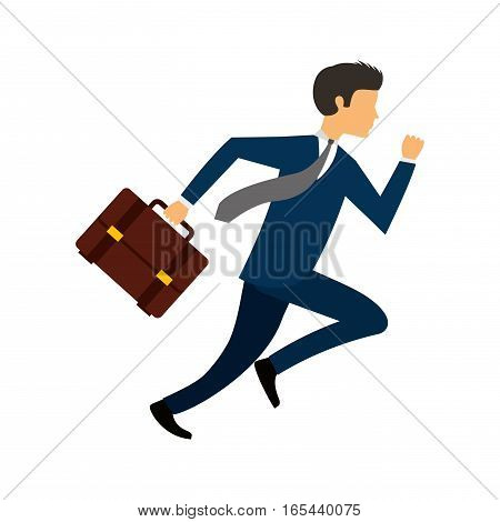 businessperson running avatar icon vector illustration design