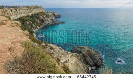 Panorama overlooking the beautiful bay near Sevastopol