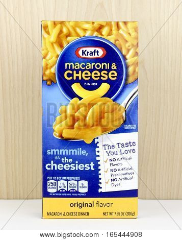 Spencer Wisconsin January122016 Box of Kraft Macaroni & Cheese Kraft is an American based company