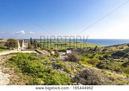 Mediterranean Seacoast On Cyprus
