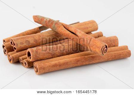 cinnamon rolls on a white background .